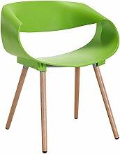 PIGE ABS Kunststoff Holz Retro Esszimmer Stühle