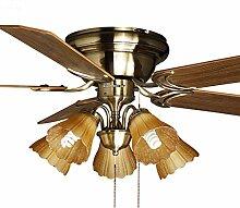 PIGE Deckenventilator Leuchten Deckenventilator Licht Restaurant Lichter Raumventilator Haushalt Ventilator leben LED-Kronleuchter (Energieeffizienzklasse A +)