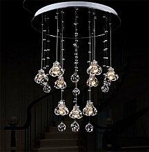 PIGE LED-Kristallhängeleuchten Restaurant Lichter Bartheke Esszimmer Lampe Doppeltreppe kreative Persönlichkeit einfache Post - moderne