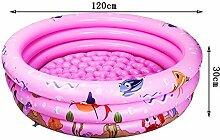 PIGE Umweltschutz PVC-Material Baby Aufblasbare Schwimmbecken, Familienspiel-Pool, Kinder Spiel-Pool Schwimmen Eimer Neugeborene Wanne (120*30cm) ( Farbe : Pink , größe : 120*30cm )