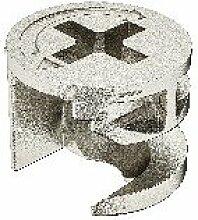 PiHaMi® Exzenter Verbindergehäuse 12 mm aus Zinkdruckguss ohne Abdeckrand (Packung 10 Stück)