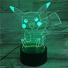 Pikachu 3D NachtlichtOptische Täuschung