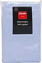 Pikolin Home - Spannbetttuch regulierbar, 100% Baumwolle, 105 x 200 cm, Bett 100/105, hellblau