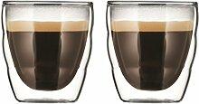 PILATUS: 2 Stück Glas, doppelwandig, 0.08 l