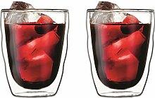 PILATUS: 2 Stück Glas, doppelwandig, 0.35 l