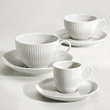 Pillivuyt 514210BL1 PLISSE Kaffeetasse, Porzellan