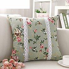 Pillow Cushion,Pillow Office Pillowcase,Car Sofa Waist Seat-A 45x45cm(18x18inch)VersionB