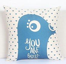 Pillow pillow Fashion cotton leinen kissen bett sofa kissen kissen auf dem bett-C 45x45cm(18x18inch) VersionB