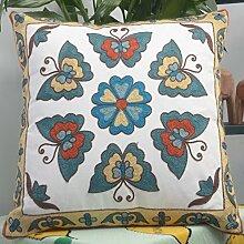 Pillow pillow Nationale Wind Stickkissen Sofa