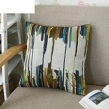 Pillow Pillow Pillow Pillow,Back Cushion,Office Sofa Lumbar-B 45x45cm(18x18inch)VersionB