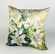 Pillow,Simulation Silk American Sofa Cushion Cover,Cushion Pillow-C 45x45cm(18x18inch)VersionB