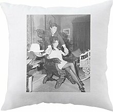 Pillow with Talithia Getty holding hands.