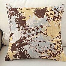 Pillowcases,Pillow Cushions,Cotton And Linen Sofa Pillow-B 43x43cm(17x17inch)VersionB