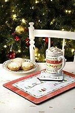 Pimpernel Tisch- und Untersetzer-Set, Weihnachtsmotiv, 6-teilig