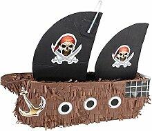 Pinata Piratenschiff ca.46 cm x 34 cm zum befüllen Kindergeburtstag
