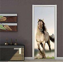 PinchPIPI 3D Türaufkleber Pferde Thema Türbild