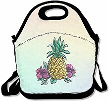 Pineapple Convenient Lunch Box Tote Bag Rugged