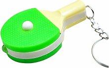 Ping Pong Schlaeger Keychain - SODIAL(R) Mini Etui inkl. LED Lichterkette Pingpong-Schlaeger-Anhaenger
