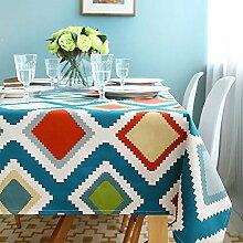 Pingenaneer Leinwand Tischdecke Eckig Abwaschbar Tischtuch Pflegeleicht Schmutzabweisend Gartentischdecke Tischtuch für Küche, Esszimmer, Garten, Balkon oder Camping - 140*180cm