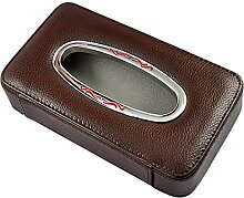 pingofm Creative Auto Sonnenschutz Papier Box car-mounted Serviette Tablett Auto Sonnendach Sitz back-tray-Kit Seidenpapier Boxen braun