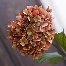 Pingofm Verbringen continental Herbst Hortensie künstliche Blumen Seidenblumen, die florale Dekoration der Wohnzimmer Esstisch Blumen gefälschte Blume,Grün