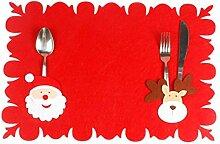 Pingrog 4 Weihnachten Tisch Tisch Sets Vlies Stoff