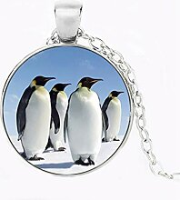 Pinguin-Anhänger aus Glas mit Pinguin-Anhänger