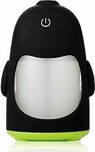 Pinguin Mini-Usb-Nacht Licht Luftbefeuchter Mute Home Creative Office Zerstäubung Luftreinigung Aromatherapie Maschine Geschenk, Grün, 7,6* 8,5* 12,4 Cm