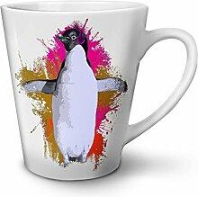 Pinguin Musik Ventilator Komisch NEU Weiß Tee Kaffe Keramik Latté Tasse 12 oz   Wellcoda