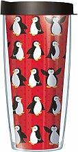 Pinguin Wrap Traveler Becher mit Deckel, 473 ml
