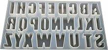 PINH-lang Silikonform,26 Englische Buchstaben