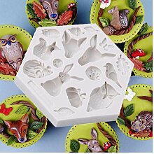 PiniceCore 3D Waldtier Mold-Silikon-Form-Kuchen,