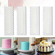 PiniceCore 4Pcs Kuchen Scraper-Gebäck-Kuchen