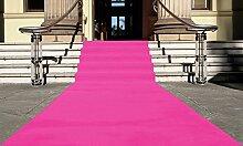 Pink Eventteppich VIP Carpet Läufer Teppich Empfangsteppich in Breite 1 m und Länge 15 m