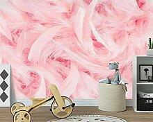Pink Flamingo Feder Tapete Wohnkultur