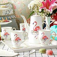 Pink Flamingo Teekanne, modernes Teeset