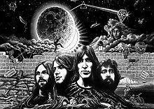 Pink Floyd Rock Metal 5, Design-Album Cover, Musik-Band-Motiv mit Bilderrahmen, für A4