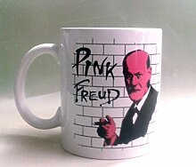 Pink Freud–Funny Parodie glänzend Keramik Tasse