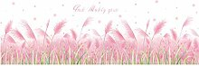 Pink Grass Baseboard Wandaufkleber für Mädchen