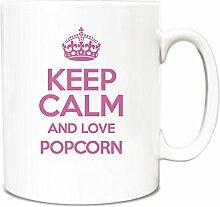 Pink Keep Calm und Love Popcorn Becher TXT 2830