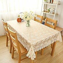 Pink Lady Pfingstrose Tischdecke Lochmuster,Tischtuch,Rechteck Ein Quadrat Tischdecke-B 60x60cm(24x24inch)