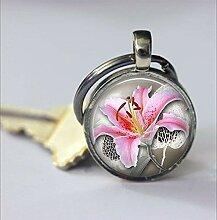 Pink Lily Schlüsselanhänger, schönes Lilie,