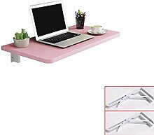 Pink Matte Klapptisch an der Wand,Tischplatte aus