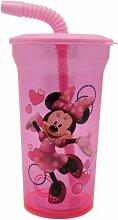 Pink Minnie Maus Tasse mit Stroh und
