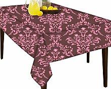 Pink Muster Wasserabweisend Tischdecke Esstisch Cover Protector, Vinyl, multi, 60 x 80
