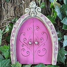 Pink Pixie, Elfe, Fairy Tür–Baum Garten Home Decor–Fun Schrulliges Geschenk Figur–Fairy Garden UK
