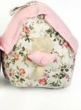 Pink Rose Design Vintage Shabby Chic Blumenmuster Vogelhaus Stoff Türstopper
