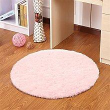 Pink Round Simple Teppich Wohnzimmer Schlafzimmer Study Hanging Stühle Computer Swivel Stuhl Matratze Mat ( größe : 140CM )