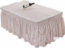 Pink Square Raster Tischdecke Kaffee Tischdecke Staubdicht Spitze Tischdecke
