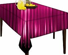 Pink Strahlen, die Wasser abweisend Tischdecke Esstisch Cover Protector, Vinyl, multi, 54 x 71